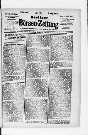 Berliner Börsen-Zeitung vom 09.04.1872