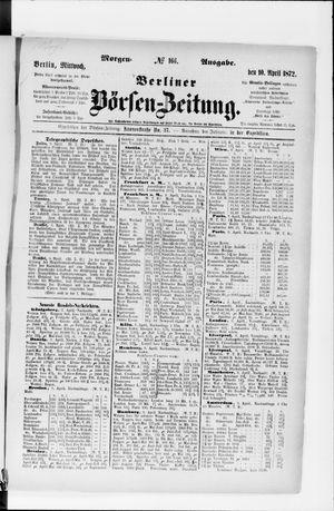 Berliner Börsen-Zeitung vom 10.04.1872