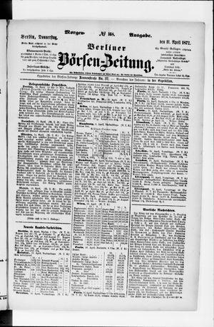 Berliner Börsen-Zeitung vom 11.04.1872