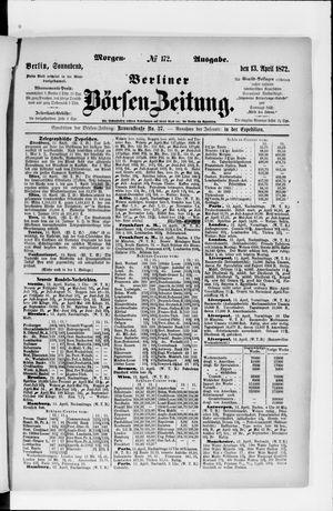 Berliner Börsen-Zeitung vom 13.04.1872