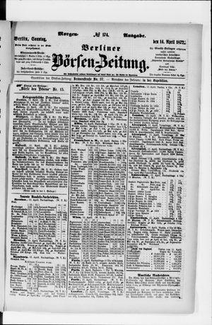 Berliner Börsen-Zeitung vom 14.04.1872