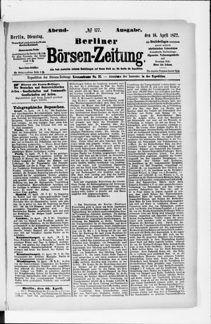 Berliner Börsen-Zeitung vom 16.04.1872