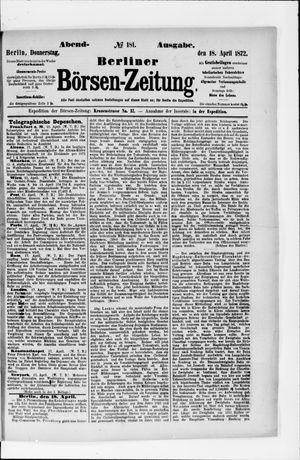 Berliner Börsen-Zeitung vom 18.04.1872