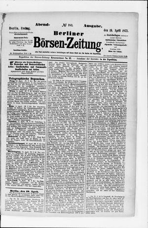 Berliner Börsen-Zeitung vom 19.04.1872