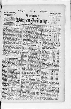 Berliner Börsen-Zeitung vom 20.04.1872