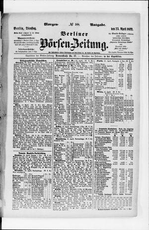 Berliner Börsen-Zeitung vom 23.04.1872