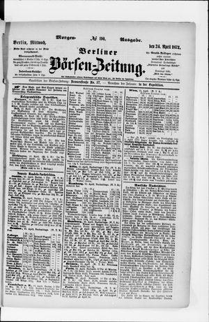 Berliner Börsen-Zeitung vom 24.04.1872