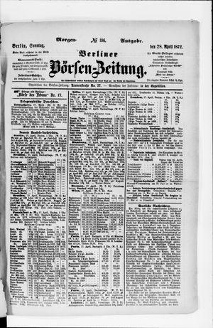 Berliner Börsen-Zeitung on Apr 28, 1872