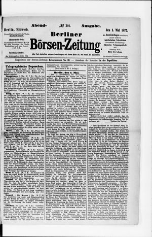 Berliner Börsen-Zeitung vom 01.05.1872