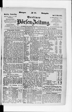 Berliner Börsen-Zeitung vom 02.05.1872