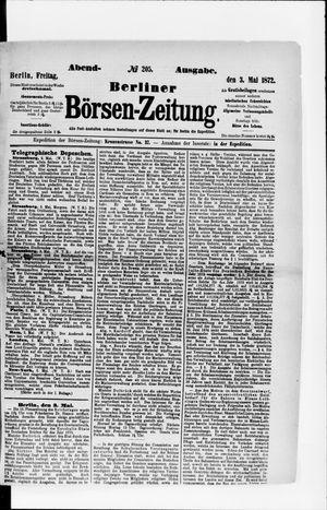 Berliner Börsen-Zeitung vom 03.05.1872