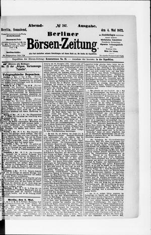 Berliner Börsen-Zeitung vom 04.05.1872