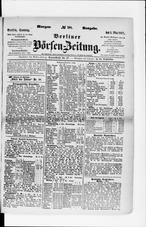 Berliner Börsen-Zeitung vom 05.05.1872