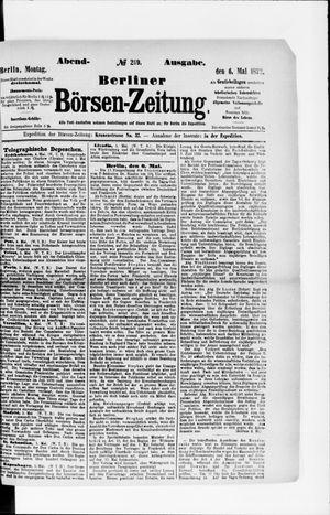 Berliner Börsen-Zeitung vom 06.05.1872