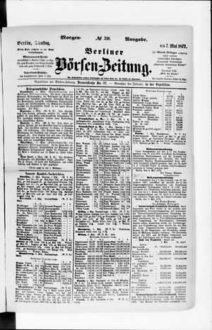 Berliner Börsen-Zeitung vom 07.05.1872