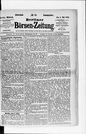 Berliner Börsen-Zeitung vom 08.05.1872