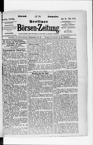 Berliner Börsen-Zeitung vom 10.05.1872