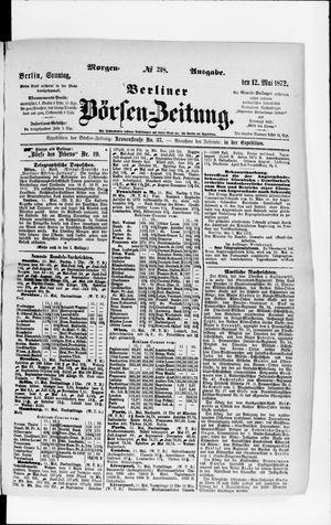 Berliner Börsen-Zeitung vom 12.05.1872