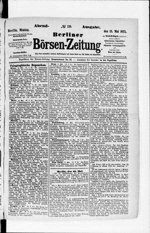 Berliner Börsen-Zeitung vom 13.05.1872