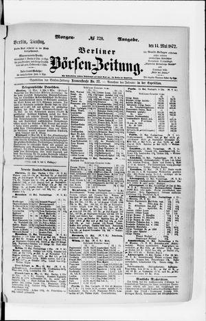 Berliner Börsen-Zeitung vom 14.05.1872