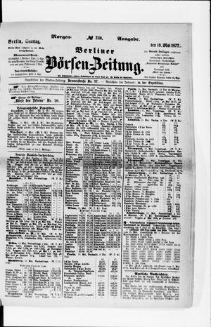 Berliner Börsen-Zeitung vom 19.05.1872