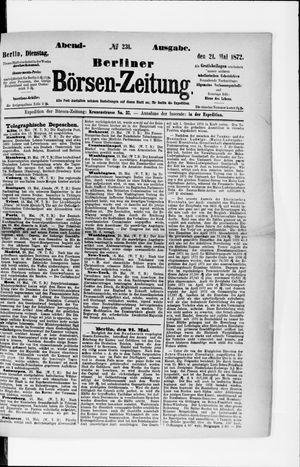 Berliner Börsen-Zeitung vom 21.05.1872