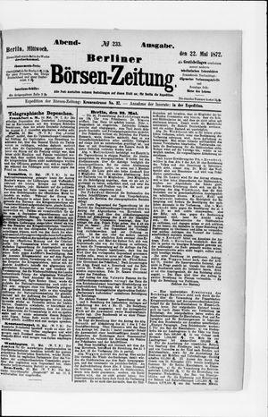 Berliner Börsen-Zeitung vom 22.05.1872
