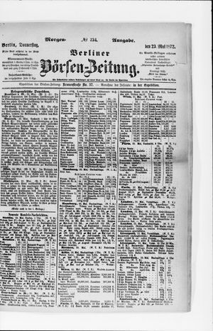 Berliner Börsen-Zeitung vom 23.05.1872