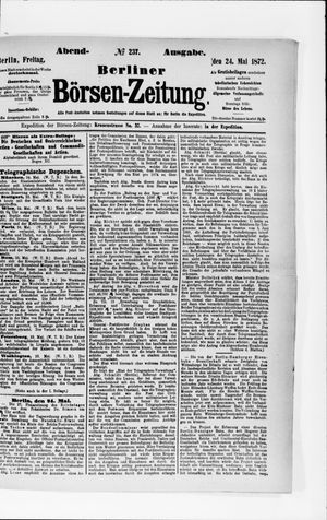 Berliner Börsen-Zeitung vom 24.05.1872