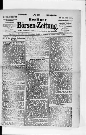 Berliner Börsen-Zeitung vom 25.05.1872