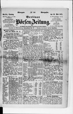 Berliner Börsen-Zeitung vom 26.05.1872