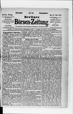 Berliner Börsen-Zeitung vom 27.05.1872
