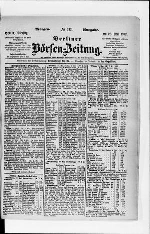 Berliner Börsen-Zeitung on May 28, 1872