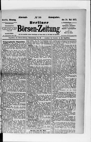 Berliner Börsen-Zeitung vom 28.05.1872