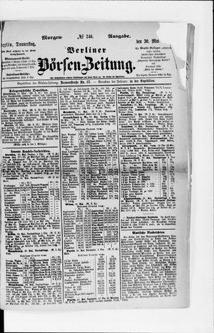Berliner Börsen-Zeitung vom 30.05.1872