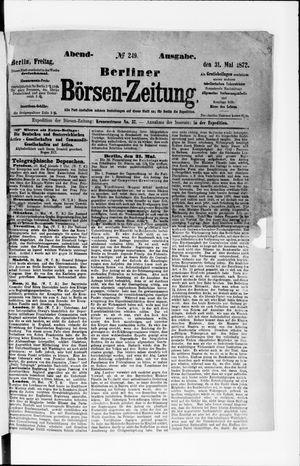 Berliner Börsen-Zeitung vom 31.05.1872