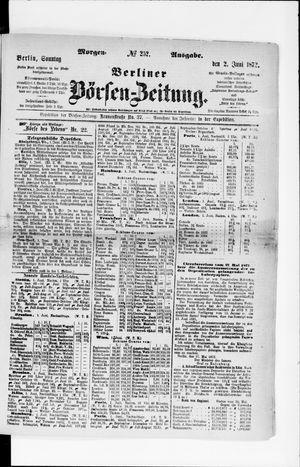 Berliner Börsen-Zeitung vom 02.06.1872