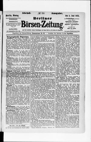 Berliner Börsen-Zeitung vom 03.06.1872