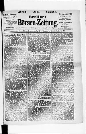 Berliner Börsen-Zeitung vom 04.06.1872