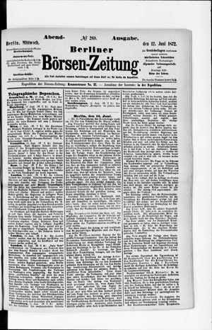 Berliner Börsen-Zeitung vom 12.06.1872