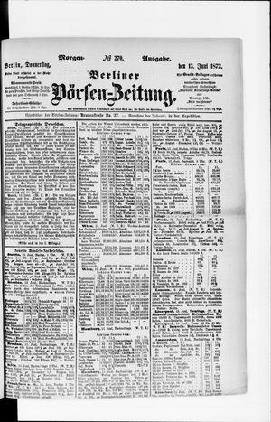 Berliner Börsen-Zeitung vom 13.06.1872