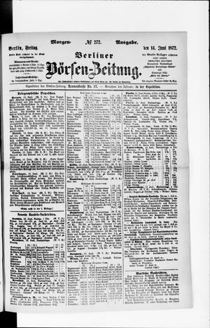 Berliner Börsen-Zeitung vom 14.06.1872