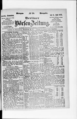 Berliner Börsen-Zeitung vom 15.06.1872