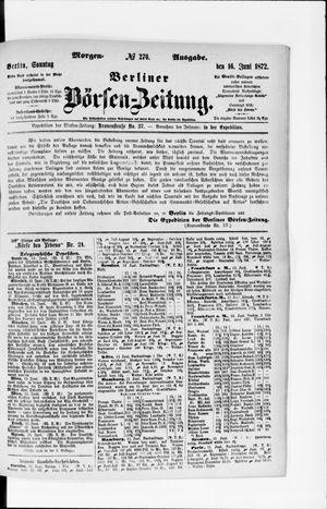 Berliner Börsen-Zeitung vom 16.06.1872