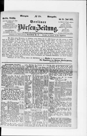 Berliner Börsen-Zeitung vom 18.06.1872