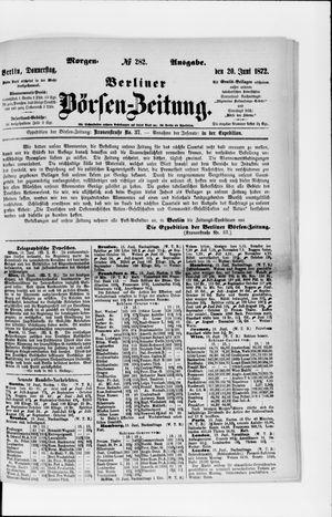 Berliner Börsen-Zeitung vom 20.06.1872