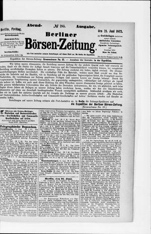 Berliner Börsen-Zeitung vom 21.06.1872