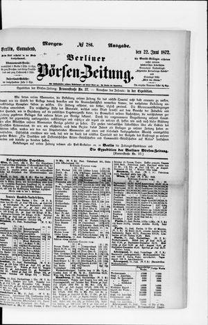 Berliner Börsen-Zeitung vom 22.06.1872