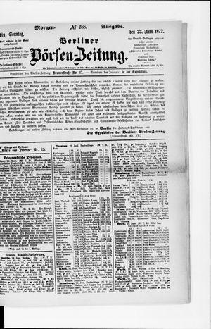Berliner Börsen-Zeitung vom 23.06.1872