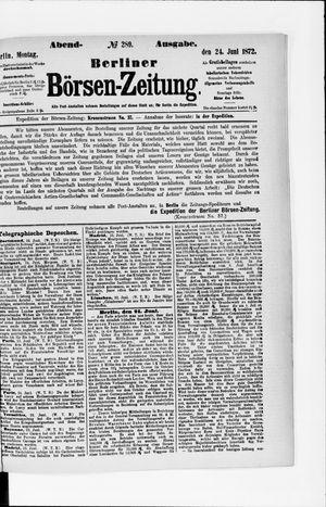Berliner Börsen-Zeitung vom 24.06.1872